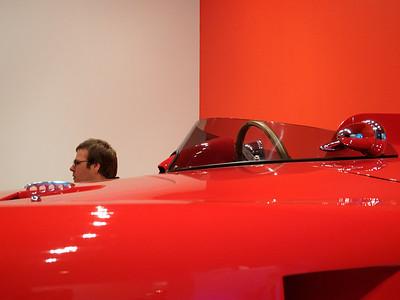 Head above race car